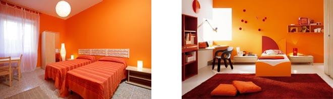 Варианты кровати оранжевого цвета