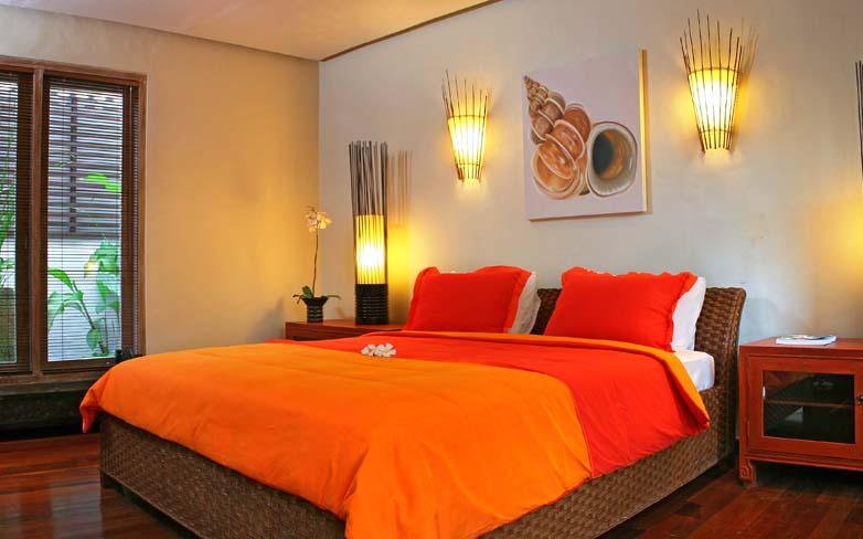 Яркие оттенки современной оранжевой кровати