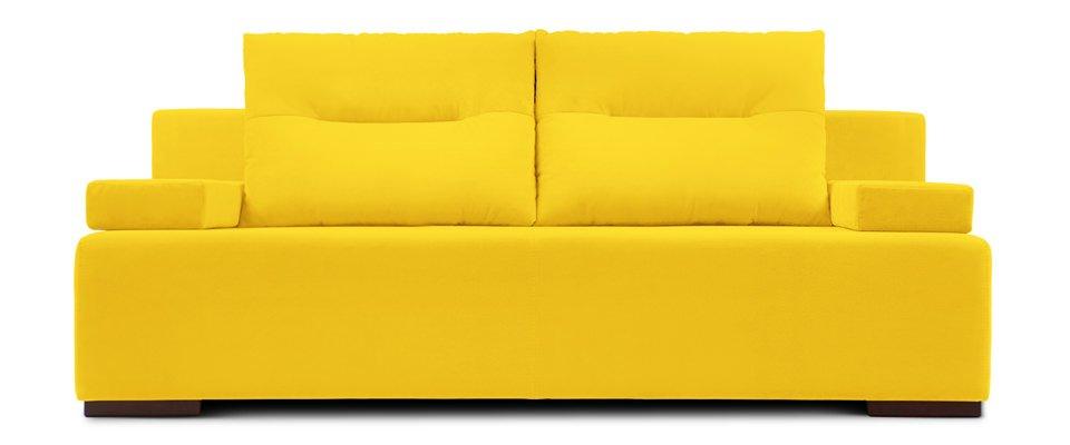 Яркий диван желтого цвета для дома