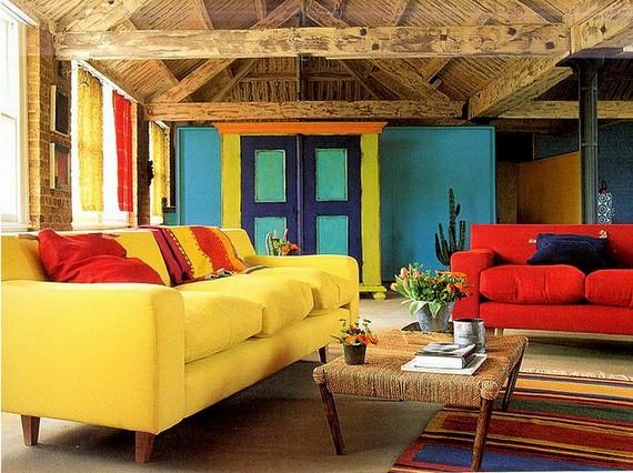 Яркий оттенок дивана в желтом цвете