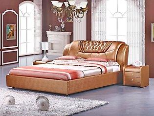 Ярко-оранжевая кровать для дома