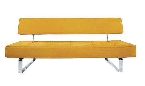 Желтые диваны смотрятся оригинально