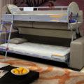 Основные преимущества диванов трансформеров превращающихся в двухъярусную кровать