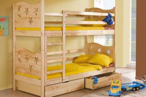 Деревянная модель кровати