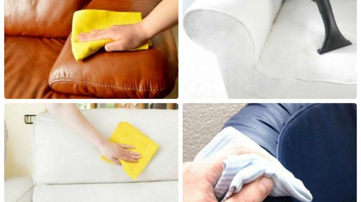 Как чистить диван без разводов