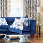 Виды синих диванов для вашей комнаты
